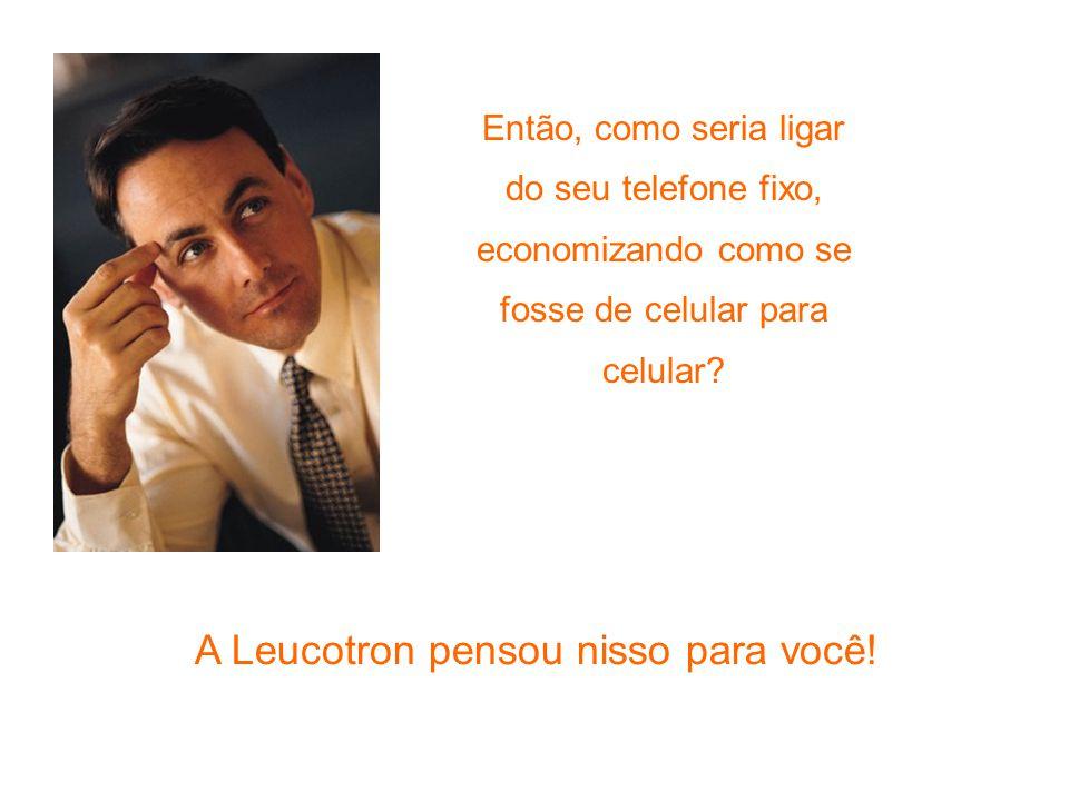 A Leucotron pensou nisso para você! Então, como seria ligar do seu telefone fixo, economizando como se fosse de celular para celular?