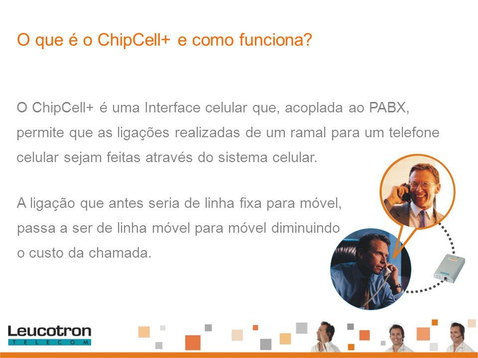O que é o ChipCell+ e como funciona? O ChipCell+ é uma Interface celular que, acoplada ao PABX, permite que as ligações realizadas de um ramal para um