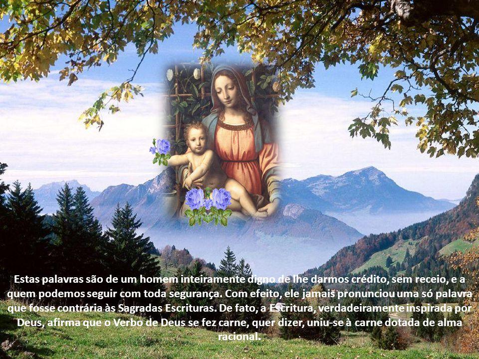 """E continua mais adiante: """"Houve muitos que já nasceram santos e livres de todo pecado. Por exemplo: Jeremias foi santificado desde o seio materno; tam"""