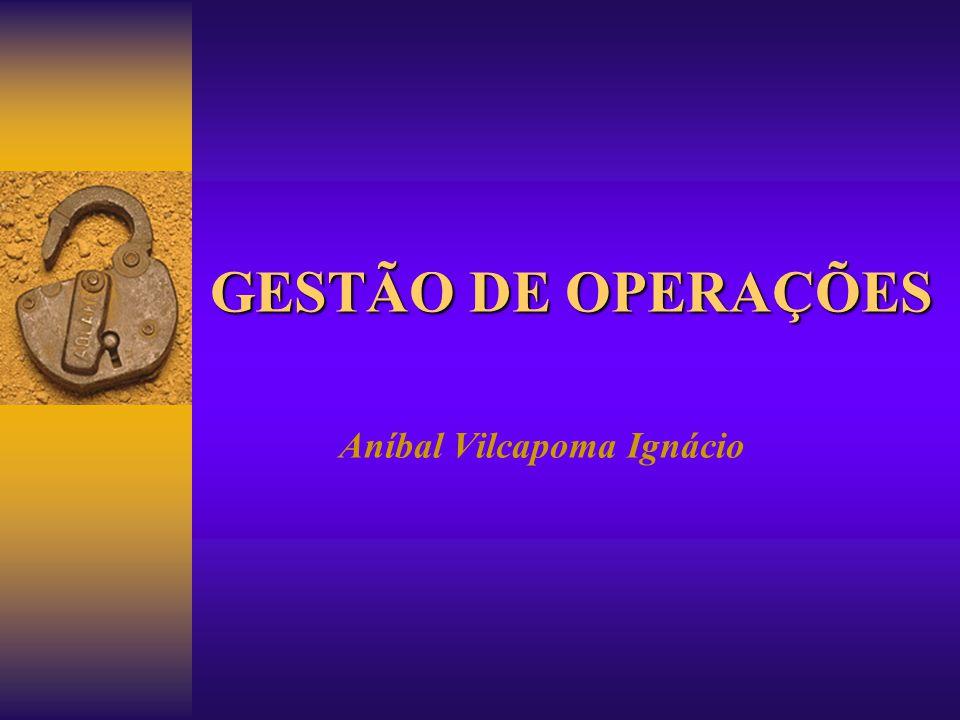 GESTÃO DE OPERAÇÕES Aníbal Vilcapoma Ignácio