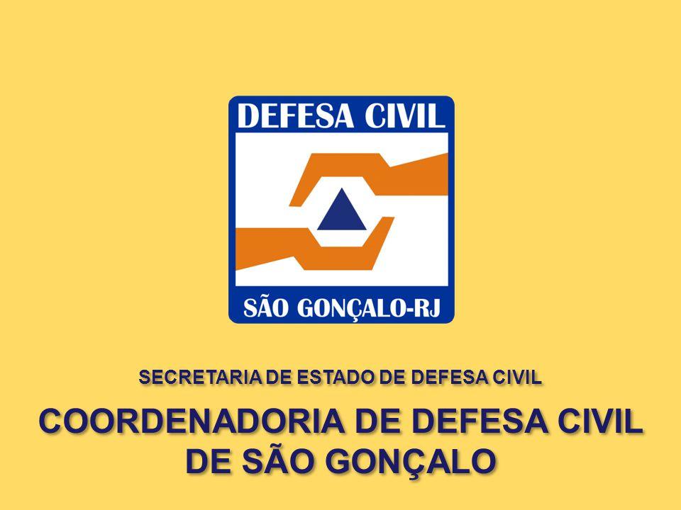 SECRETARIA DE ESTADO DE DEFESA CIVIL COORDENADORIA DE DEFESA CIVIL DE SÃO GONÇALO SECRETARIA DE ESTADO DE DEFESA CIVIL COORDENADORIA DE DEFESA CIVIL D