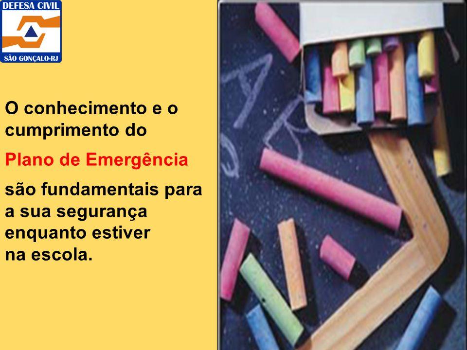 O conhecimento e o cumprimento do Plano de Emergência são fundamentais para a sua segurança enquanto estiver na escola.