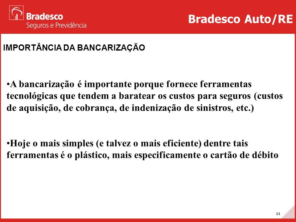 Projetos Auto/RE 11 IMPORTÂNCIA DA BANCARIZAÇÃO Bradesco Auto/RE •A bancarização é importante porque fornece ferramentas tecnológicas que tendem a bar