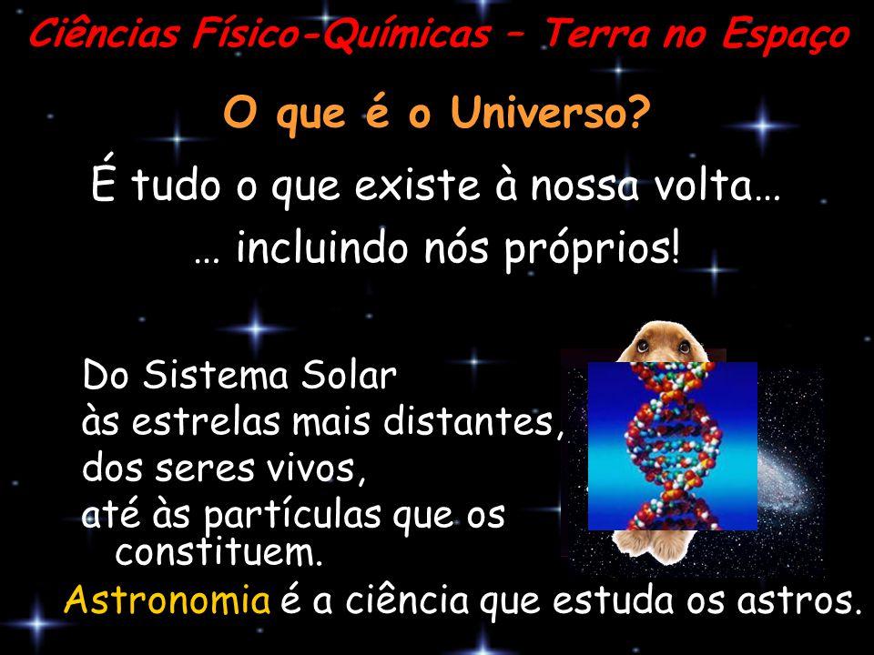 O que é o Universo? É tudo o que existe à nossa volta… … incluindo nós próprios! Ciências Físico-Químicas – Terra no Espaço Do Sistema Solar às estrel