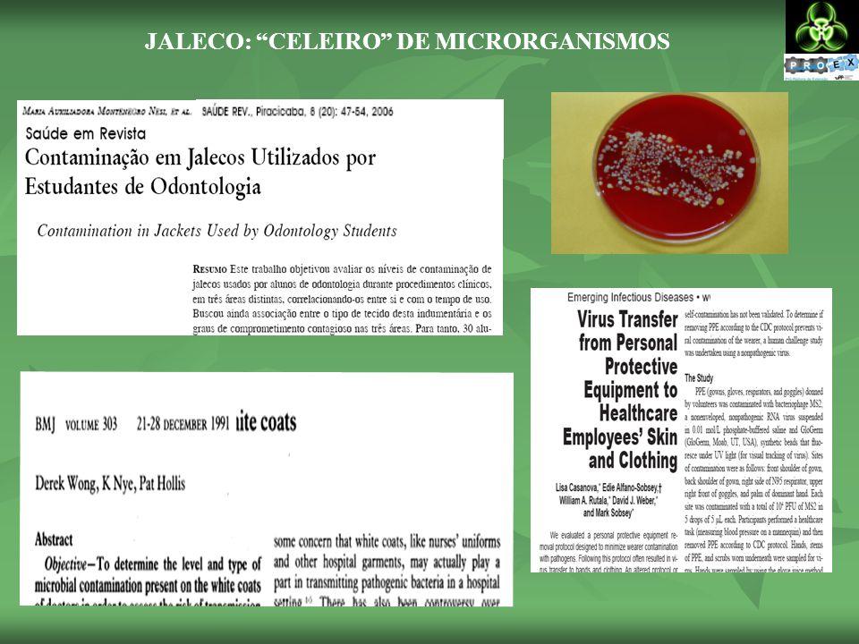 - bactérias ficam no tecido e 90% delas resistem por até 12 horas Proteção individual  agressão coletiva UNIVERSIDADE FEDERAL DO RIO DE JANEIRO: BERES,C.