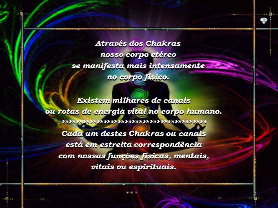 "A palavra Chakra vem do Sânscrito. Significa ""Rodas de Luz"" ou ""Centros de Luz"". A palavra Chakra vem do Sânscrito. Significa ""Rodas de Luz"" ou ""Centr"