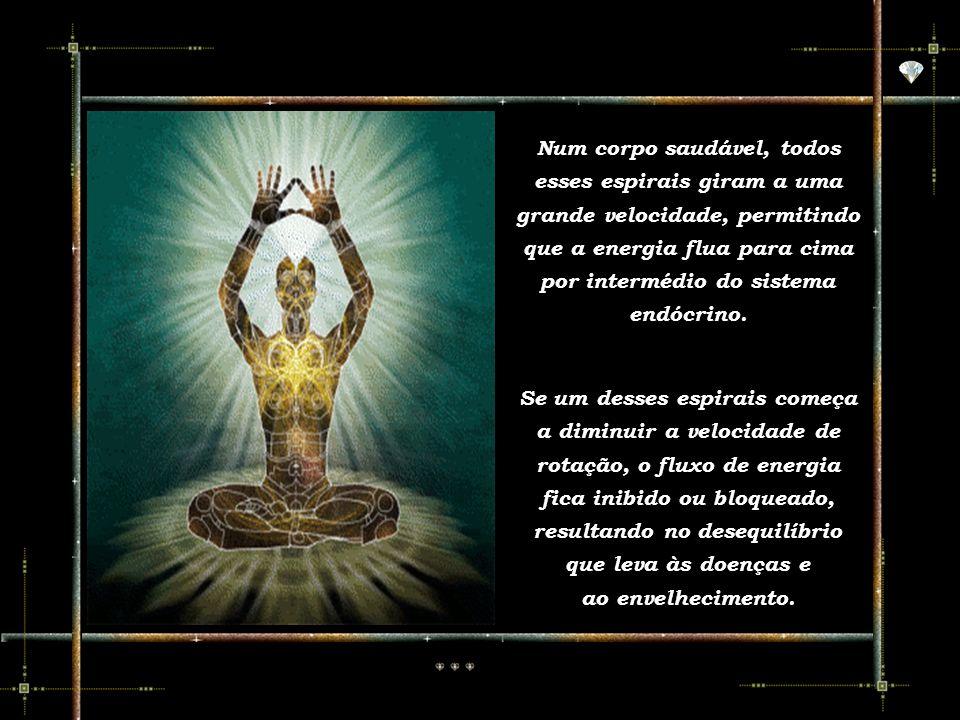 Através dos Chakras nosso corpo etéreo se manifesta mais intensamente no corpo físico. Através dos Chakras nosso corpo etéreo se manifesta mais intens