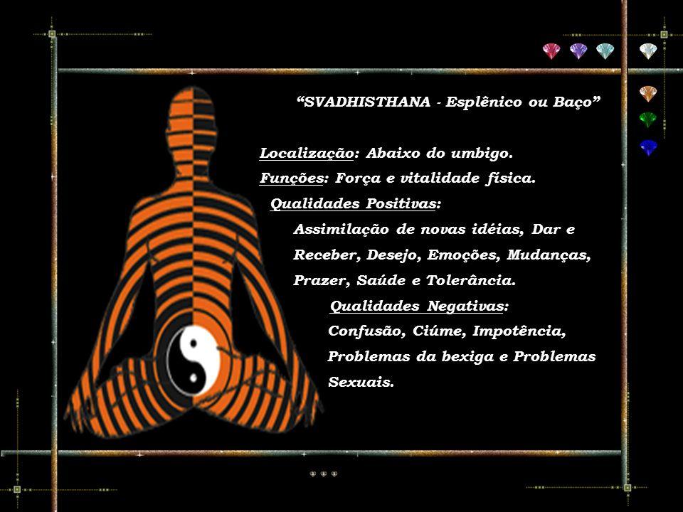 O Chakra Raiz, situado na base da espinha dorsal, relaciona-se com o poder criador da energia sexual. Quando esse chakra está enfraquecido indica dist