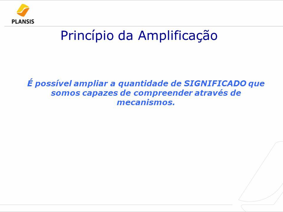 Princípio da Amplificação É possível ampliar a quantidade de SIGNIFICADO que somos capazes de compreender através de mecanismos.