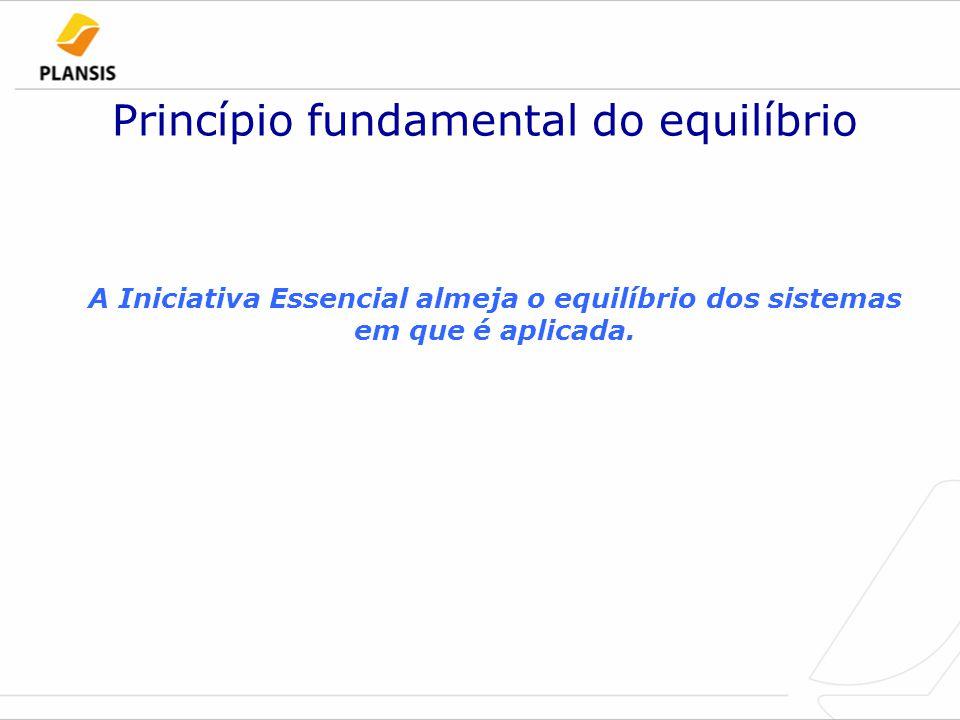 Princípio fundamental do equilíbrio A Iniciativa Essencial almeja o equilíbrio dos sistemas em que é aplicada.