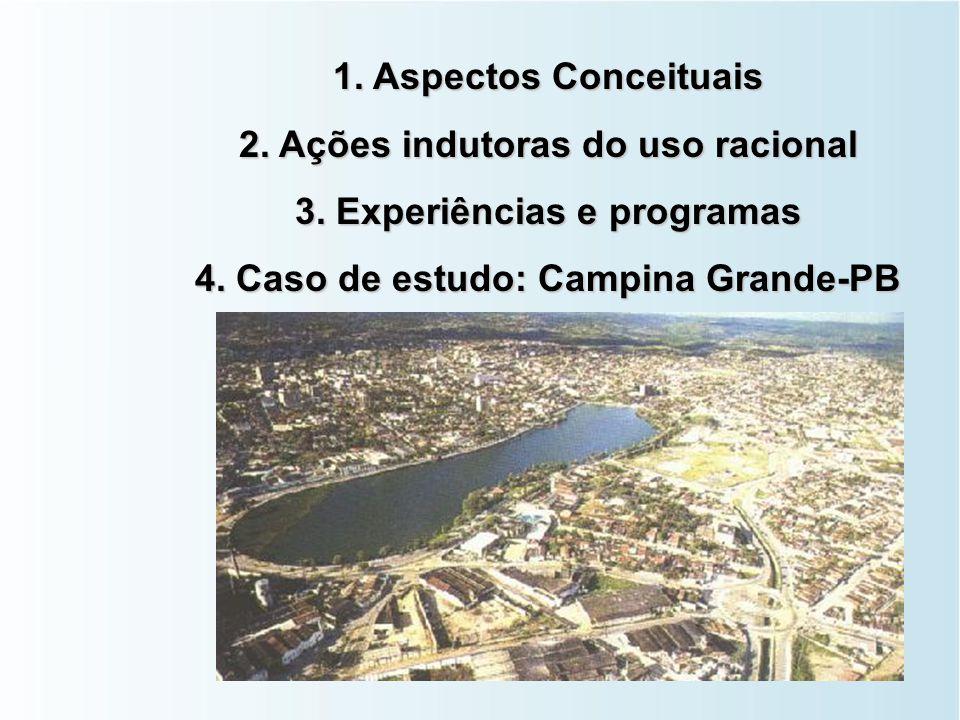 Waterloo (Canadá)   Water Efficient Master Plan (WEMP) – 1991;   Objetivo: redução da demanda em 6.820 m 3 /dia (2009);   Programas de conscientização   Programa de substituição de bacias sanitárias pelas de 6 litros (1994)   Resultados:   Redução de 10 % per capita no consumo;   Economia de 100 l/dia/cada 3 sanitários trocados.