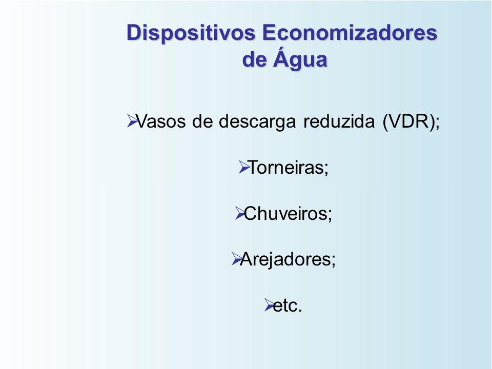 Ações Tecnológicas   Dispositivos economizadores;   Medição individualizada;   Sistemas individuais ou comunitários de captação de água de chuva