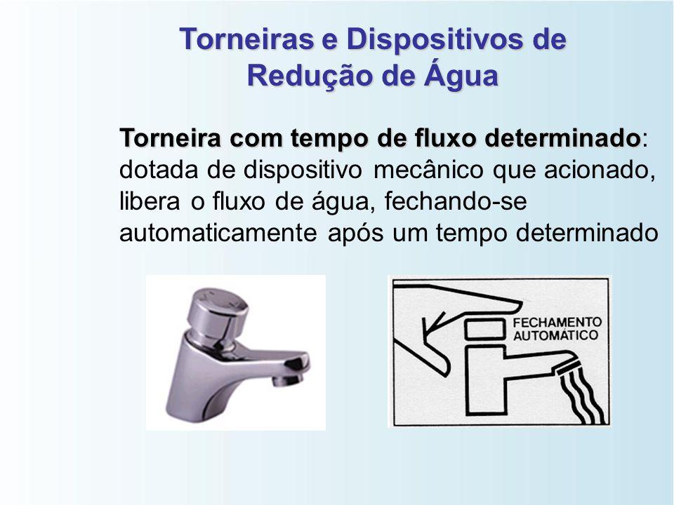 Torneiras e Dispositivos de Redução de Água Arejador Arejador: dispositivo fixado na saída da torneira, que reduz a vazão da água, diminuem cerca de 5
