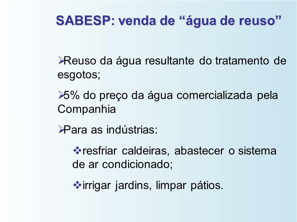 CAGECE (Companhia de Água e Esgotos do CE)   Programa de Reuso de Água;   Reuso da água resultante do tratamento de esgotos;   Objetivo:   eco