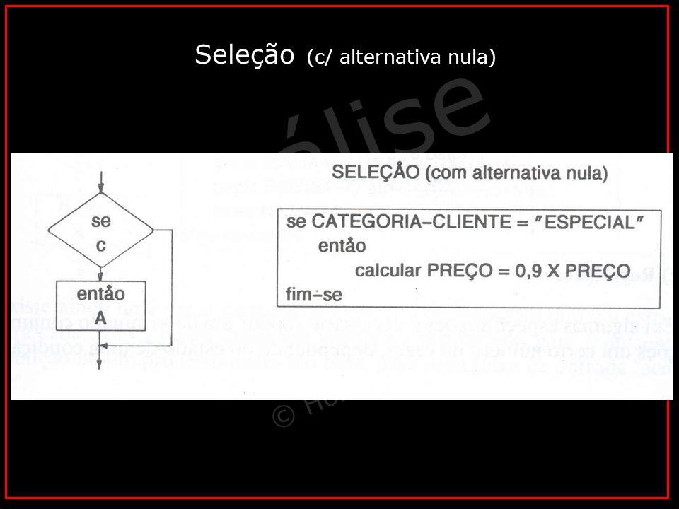 Análise Vital © Horacio Soares Seleção (c/ alternativa nula)