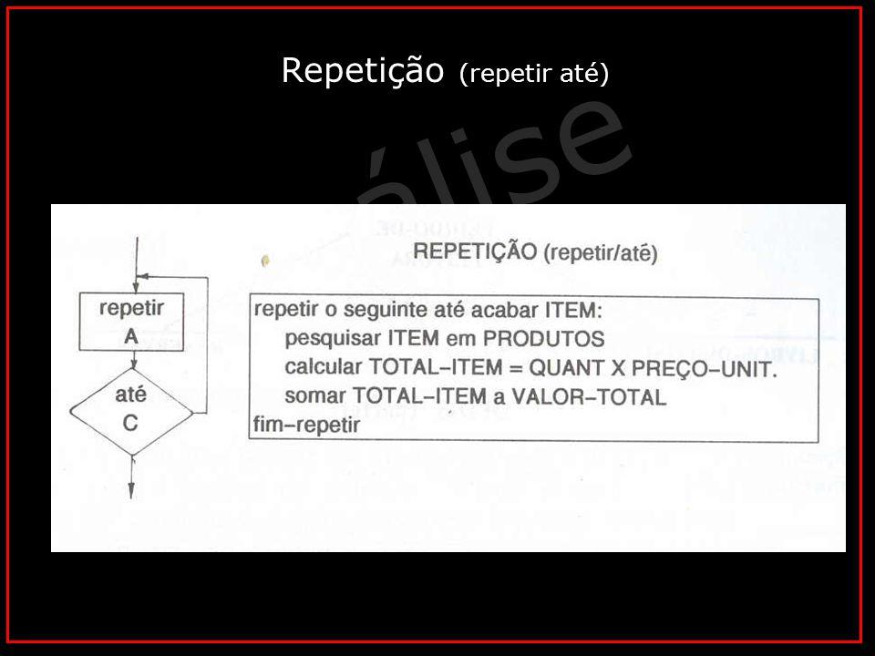 Análise Vital © Horacio Soares Repetição (repetir até)