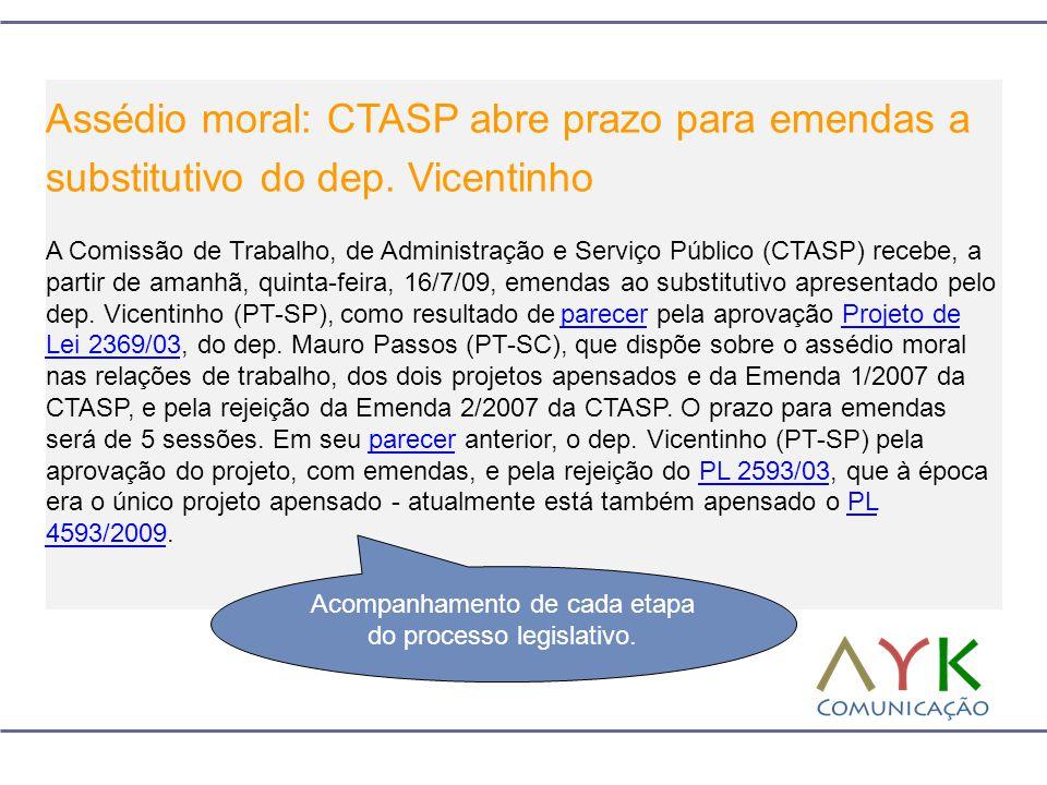 Assédio moral: CTASP abre prazo para emendas a substitutivo do dep. Vicentinho A Comissão de Trabalho, de Administração e Serviço Público (CTASP) rece