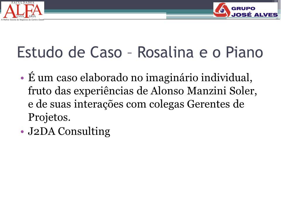 Estudo de Caso – Rosalina e o Piano •É um caso elaborado no imaginário individual, fruto das experiências de Alonso Manzini Soler, e de suas interaçõe