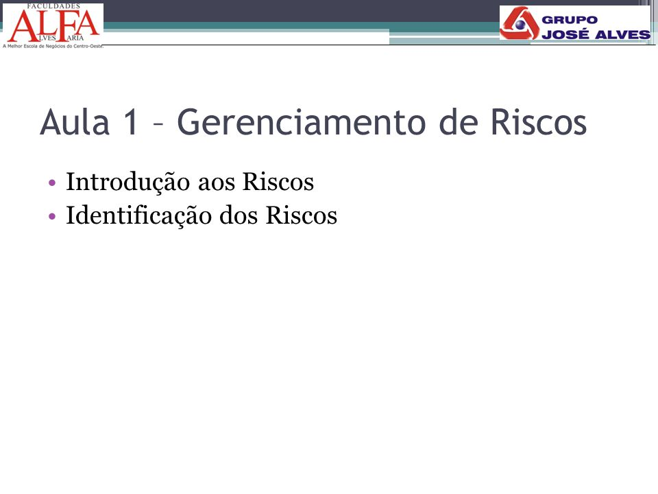 RISCOS PUROS: • Eles existem quando há somente uma chance de perda e nenhuma possibilidade de ganho ou lucro.