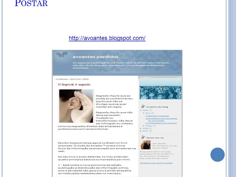 P OSTAR http://avoantes.blogspot.com/