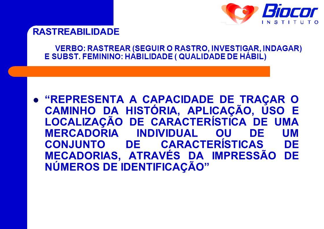 """RASTREABILIDADE VERBO: RASTREAR (SEGUIR O RASTRO, INVESTIGAR, INDAGAR) E SUBST. FEMININO: HABILIDADE ( QUALIDADE DE HÁBIL)  """"REPRESENTA A CAPACIDADE"""