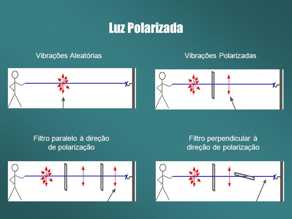 Luz Polarizada Substâncias opticamente ativas são capazes de rotacionar o plano de polarização da luz polarizada.