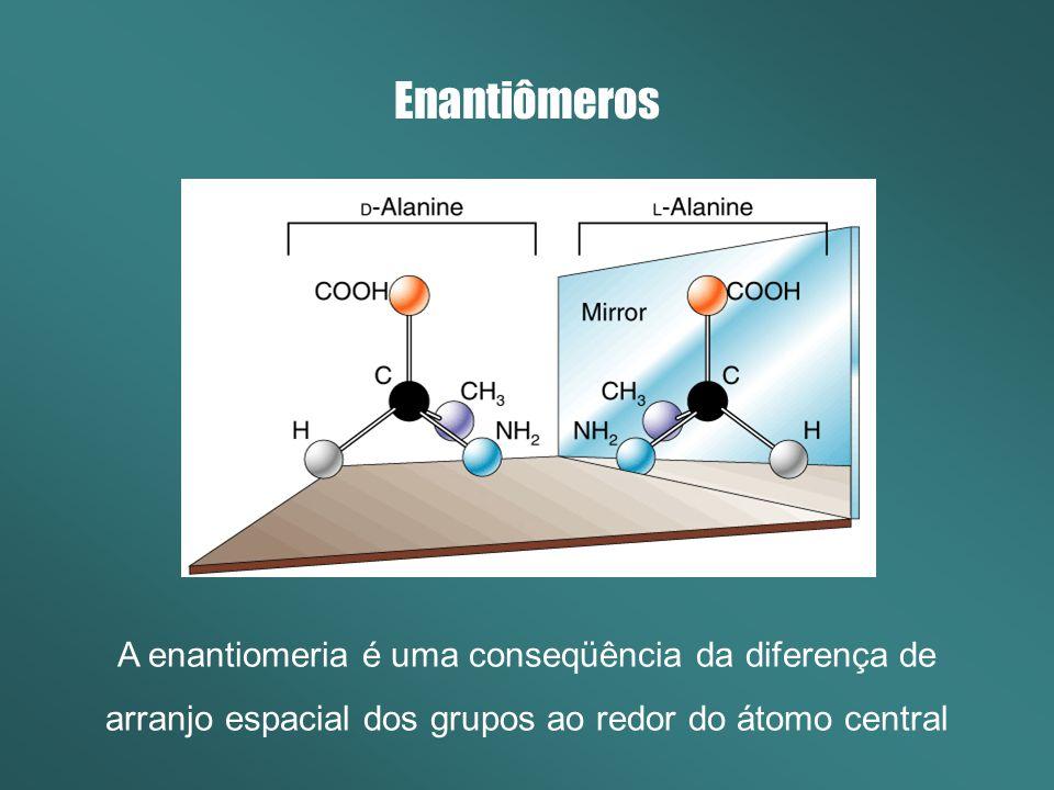 Quiralidade Moléculas Quirais são totalmente assimétricas.