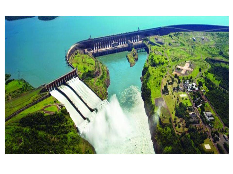 Constituintes da Hidrelétrica • Barreira ou represa • O canal • Turbinas com lâminas • Geradores com ímãs • Transformador • Fluxo de saída • Linhas de