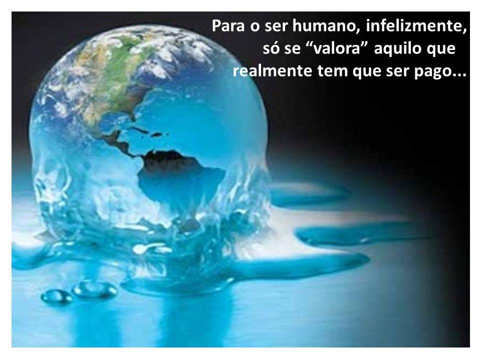 """Para o ser humano, infelizmente, só se """"valora"""" aquilo que realmente tem que ser pago..."""