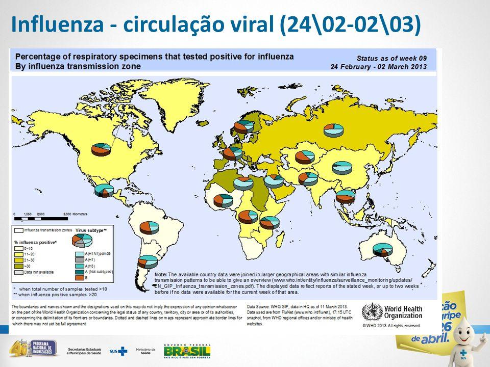 Influenza - circulação viral (24\02-02\03)