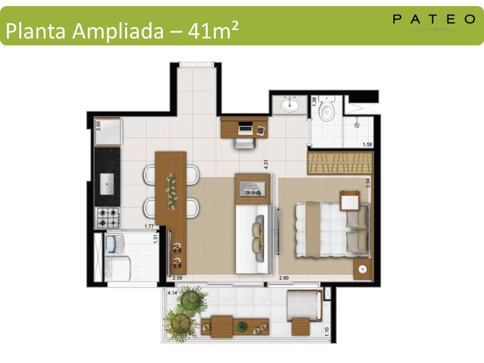 Planta Ampliada – 41m²