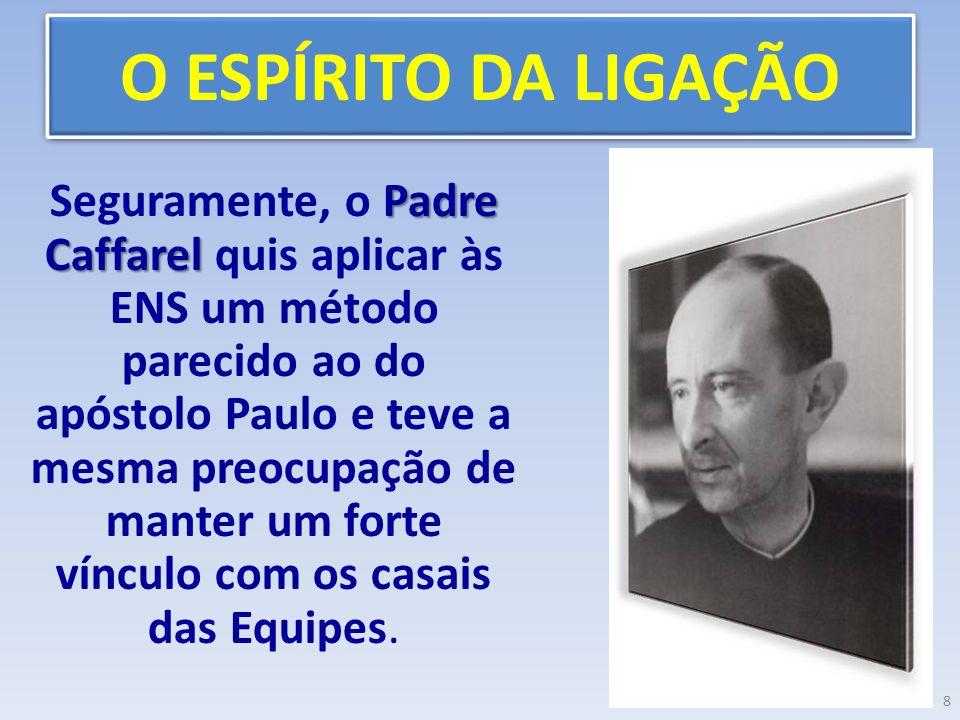 O ESPÍRITO DA LIGAÇÃO Padre Caffarel Seguramente, o Padre Caffarel quis aplicar às ENS um método parecido ao do apóstolo Paulo e teve a mesma preocupa