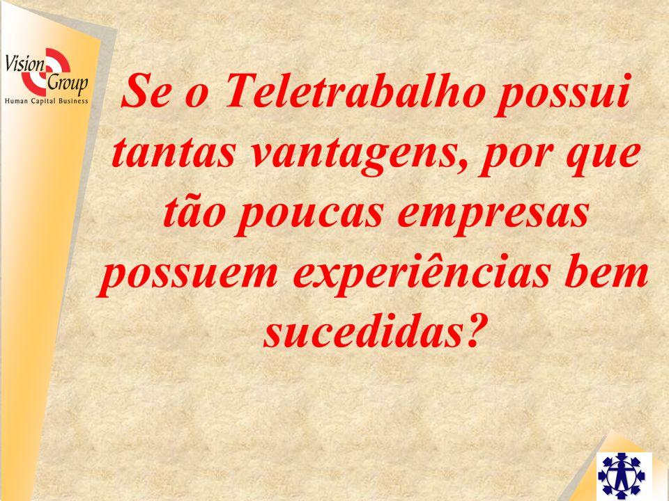 Se o Teletrabalho possui tantas vantagens, por que tão poucas empresas possuem experiências bem sucedidas?
