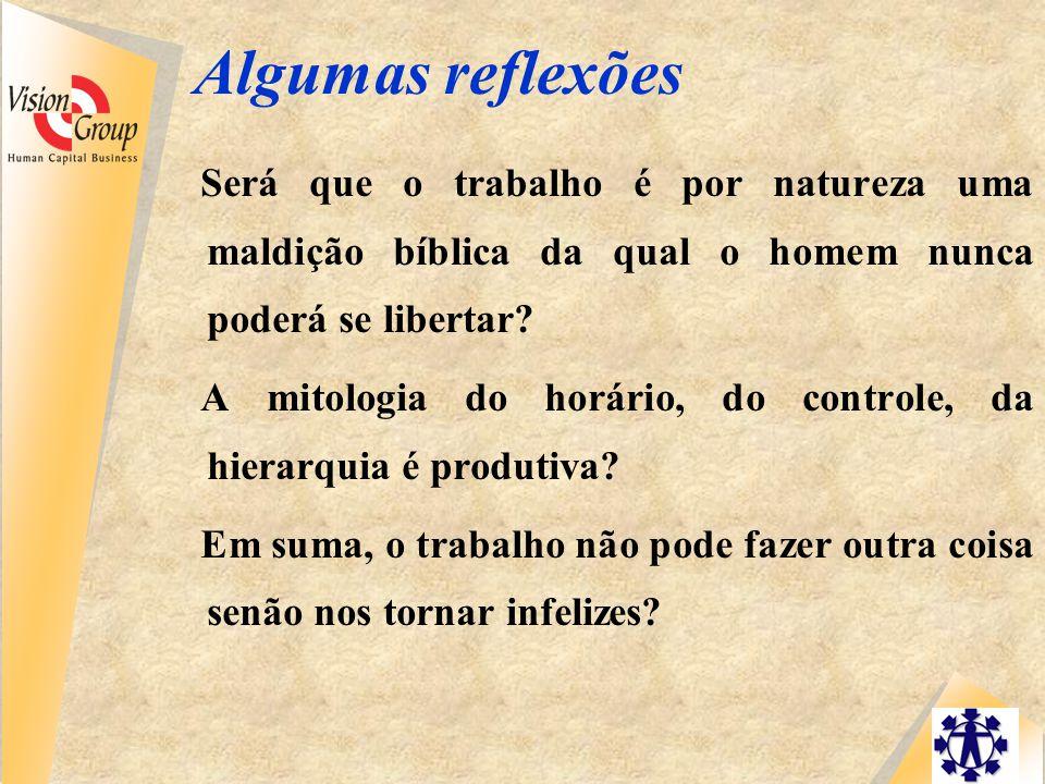 Algumas reflexões Será que o trabalho é por natureza uma maldição bíblica da qual o homem nunca poderá se libertar.
