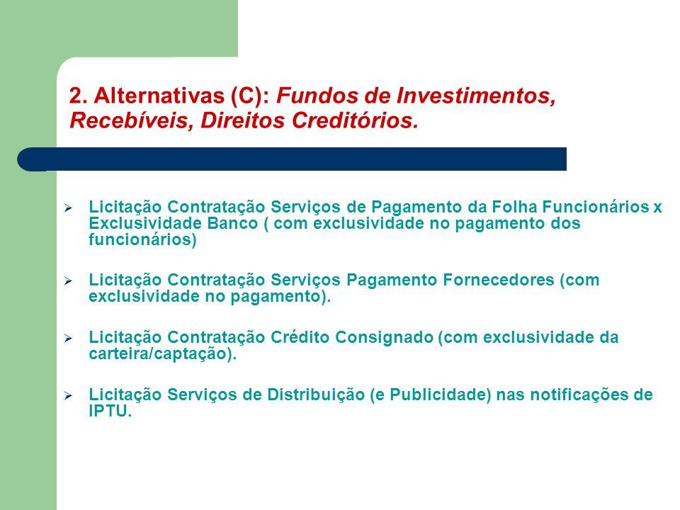  Licitação Contratação Serviços de Pagamento da Folha Funcionários x Exclusividade Banco ( com exclusividade no pagamento dos funcionários)  Licitaç