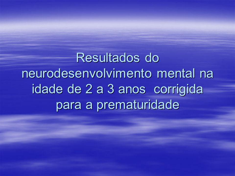 Resultados do neurodesenvolvimento mental na idade de 2 a 3 anos corrigida para a prematuridade