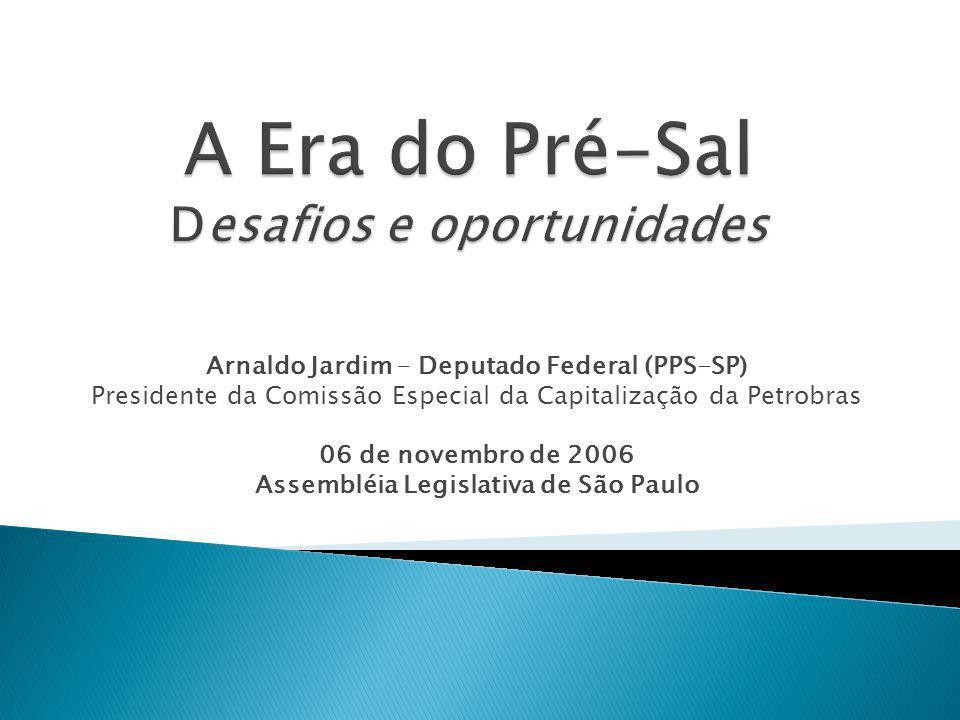 Arnaldo Jardim – Deputado Federal (PPS-SP) Presidente da Comissão Especial da Capitalização da Petrobras 06 de novembro de 2006 Assembléia Legislativa