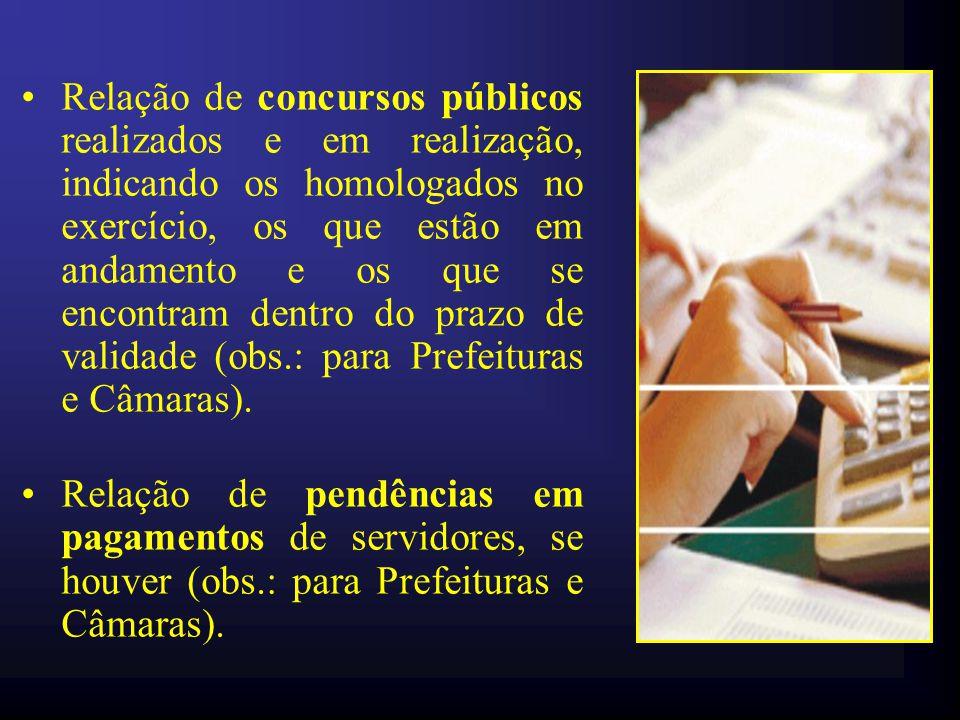 Levantamento da situação dos servidores, por cópia do relatório emitido no Sistema de Acompanhamento de Pagamento de Pessoal – Sappe do TCM, contendo