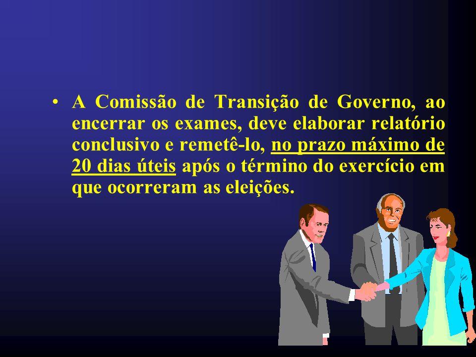 •Todos os documentos enviados à Comissão de Transmissão de Governo devem ser emitidos em papel timbrado e assinados.
