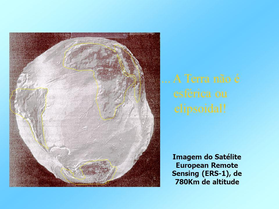 ... A Terra não é esférica ou elipsoidal! Imagem do Satélite European Remote Sensing (ERS-1), de 780Km de altitude