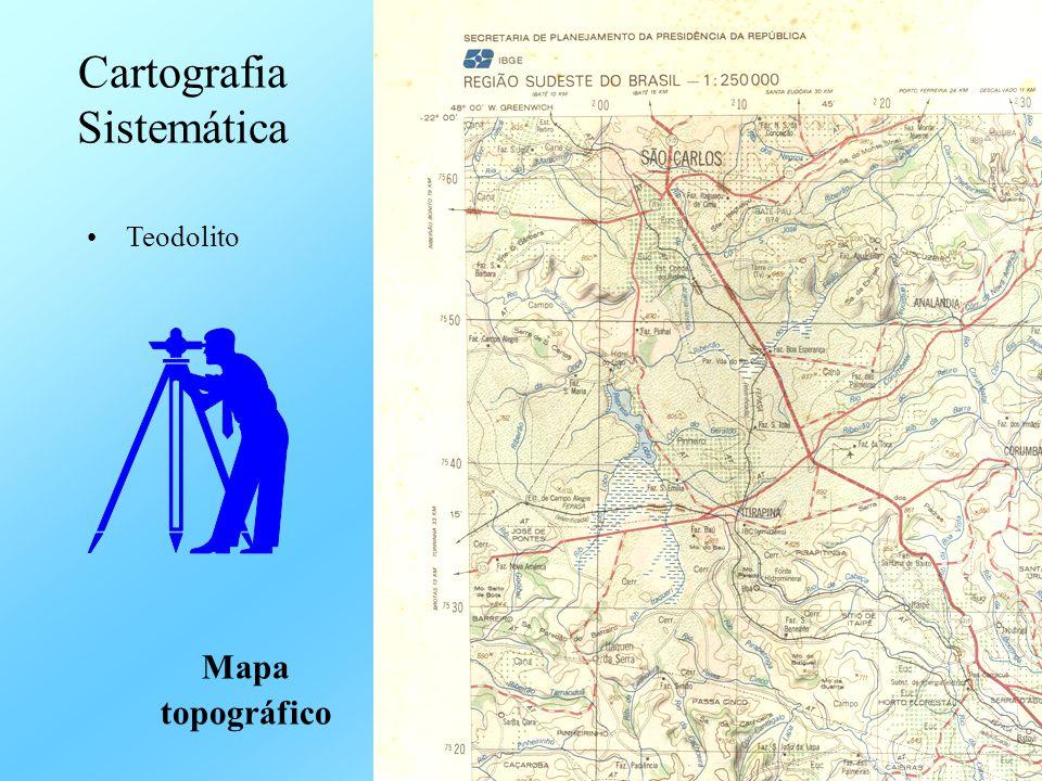 •Teodolito Cartografia Sistemática Mapa topográfico