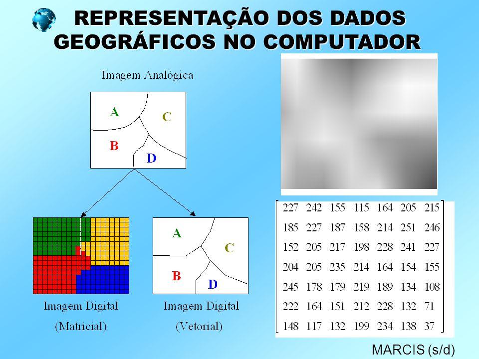 REPRESENTAÇÃO DOS DADOS GEOGRÁFICOS NO COMPUTADOR MARCIS (s/d)
