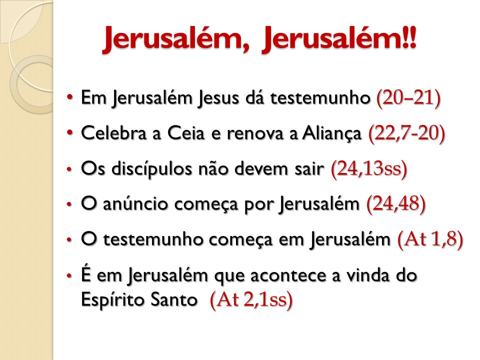 Jerusalém, Jerusalém!.
