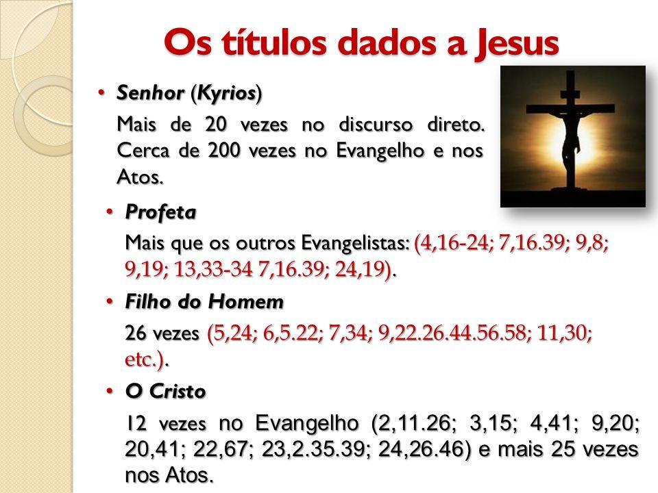•Profeta Mais que os outros Evangelistas: (4,16-24; 7,16.39; 9,8; 9,19; 13,33-34 7,16.39; 24,19).