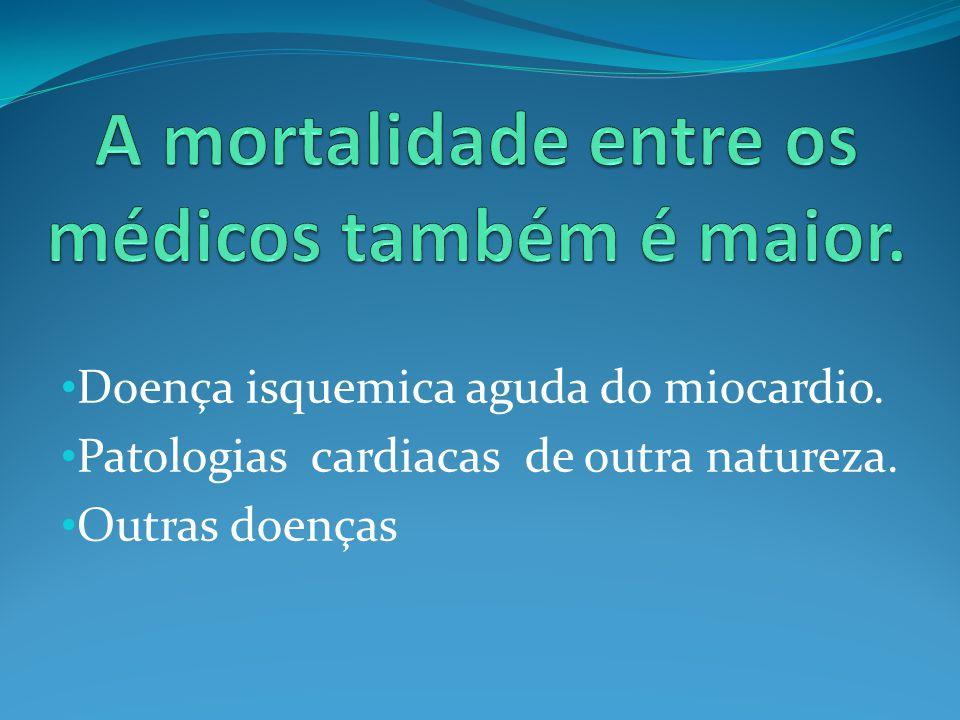 • Doença isquemica aguda do miocardio. • Patologias cardiacas de outra natureza. • Outras doenças