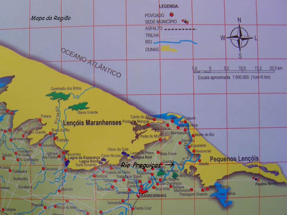 Mapa da Região Rio Preguiças 