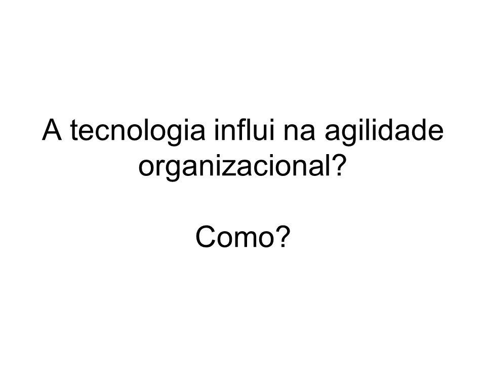 A tecnologia influi na agilidade organizacional? Como?