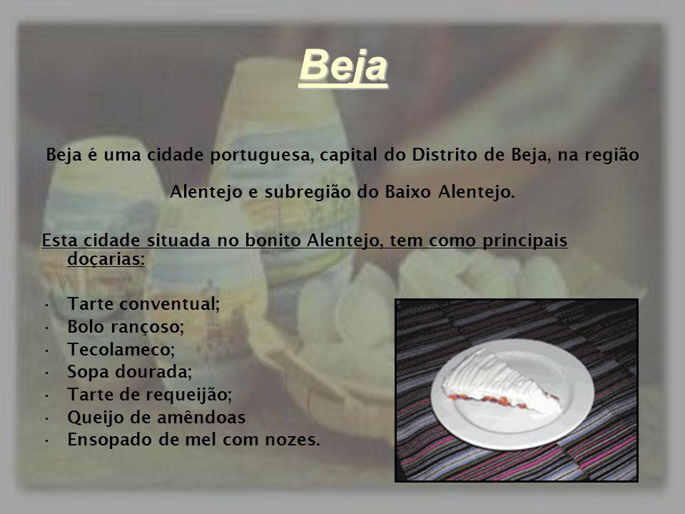 Beja Beja é uma cidade portuguesa, capital do Distrito de Beja, na região Alentejo e subregião do Baixo Alentejo. Esta cidade situada no bonito Alente