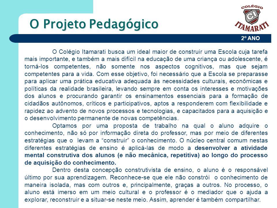 2º ANO O Projeto Pedagógico O Colégio Itamarati busca um ideal maior de construir uma Escola cuja tarefa mais importante, e também a mais difícil na e
