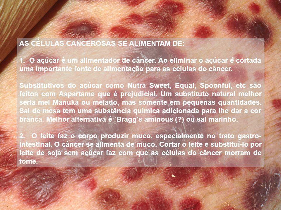 3.As células de câncer prosperam em ambientes ácidos.